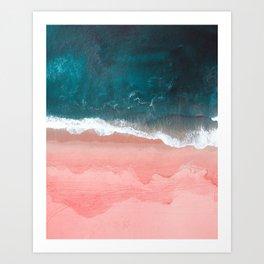 Turquoise Sea Pastel Beach III Art Print