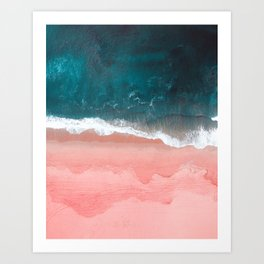 Turquoise Sea Pastel Beach III Art Print
