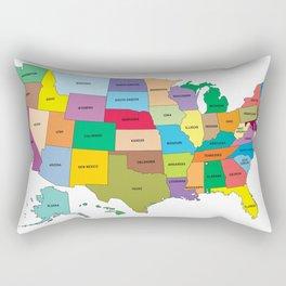 Map of the US states Rectangular Pillow