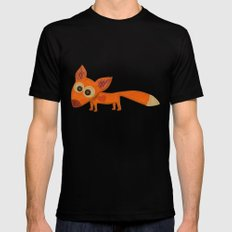 Cute Fox Mens Fitted Tee Black MEDIUM