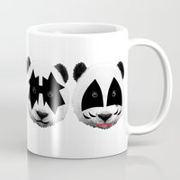 kiss Mugs featuring kiss by mark ashkenazi