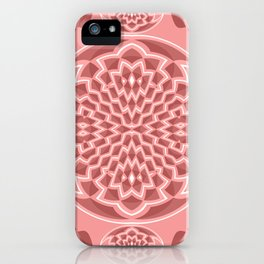 Coral pink geometric iPhone Case