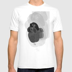 Unfortunate Birdies. White SMALL Mens Fitted Tee