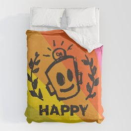 International Day of HAPPINESS Duvet Cover