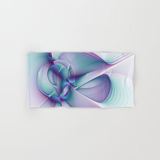 A Colorful Beauty, Abstract Fractal Art Hand & Bath Towel