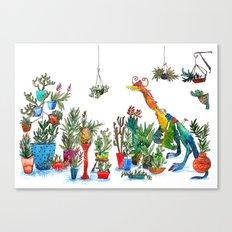 Garden Dinosaur Canvas Print