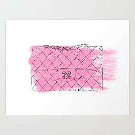 Pink bag #2 Art Print