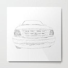 pickup truck drawing Metal Print