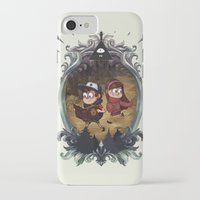 gravity falls iPhone & iPod Cases featuring Gravity Falls by Vaahlkult