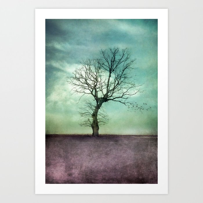 ATMOSPHERIC TREE I Art Print