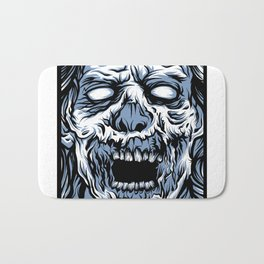 Blue Boxed Zombie Bath Mat