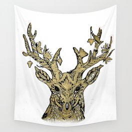 Hirsch gold Wall Tapestry