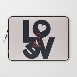 All you need is love, The Beatle music quote, Valentine's Day, just married, couples gift, present Laptop Sleeve