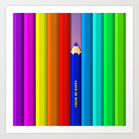 Color Me Happy :)  Art Print