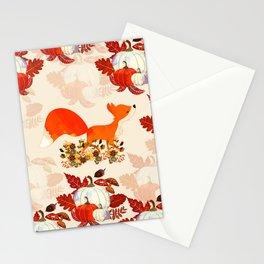 Autumn Fox Stationery Cards