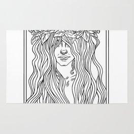She. Art Nouveau. Rug