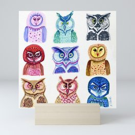 OWLS Group Mini Art Print