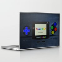 gameboy Laptop & iPad Skins featuring GAMEBOY COLOR by Smart Friend