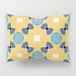 Tolkien ink blue and yellow pattern Pillow Sham