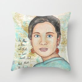 He Loved Us by patsy paterno Throw Pillow