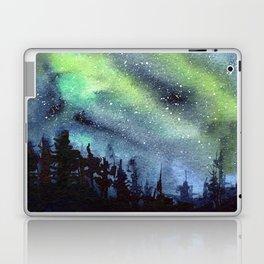 Galaxy Nebula Watercolor Northern Lights Aurora Borealis Laptop & iPad Skin
