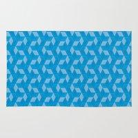 escher Area & Throw Rugs featuring Escher #007 by rob art | simple