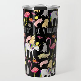 Funny Unicorn Party Travel Mug