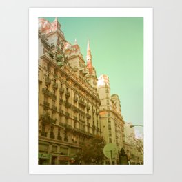 We Both Go Down (Retro and Vintage Urban, architecture photography) Art Print