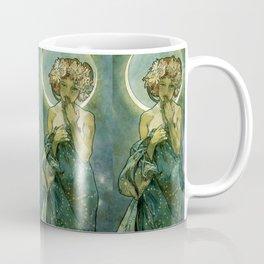 "Alphonse Mucha ""The Moon and the Stars Series: The Moon"" Coffee Mug"
