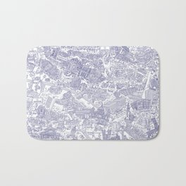 Illustrated map of Berlin-Mitte. Ink pen design Bath Mat