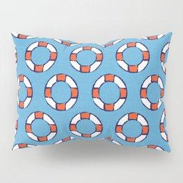 lifeguard buoy blue #nauticaldecor Pillow Sham