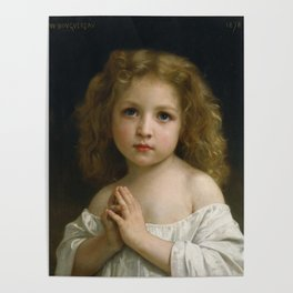 William Adolphe Bouguereau - Little Girl, 1878 Poster