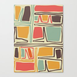 Whimsical abstract pattern design Canvas Print