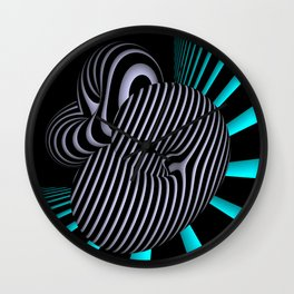 go turquoise -9- Wall Clock