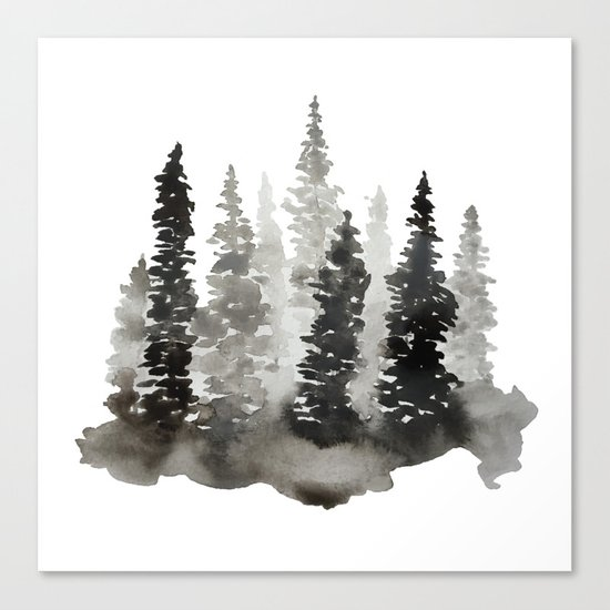 Fading Forest Canvas Print