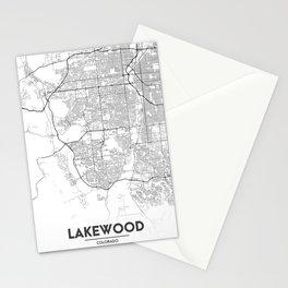 Minimal City Maps - Map Of Lakewood, Colorado, United States Stationery Cards