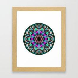 Meditation medallion. Framed Art Print