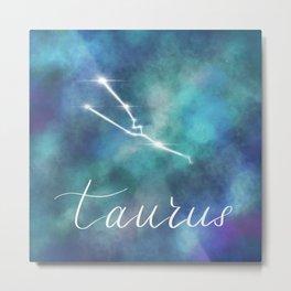 Taurus Horoscope in Galaxy Metal Print