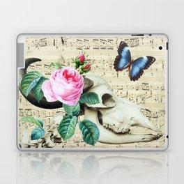 Cow Sugar Skull Music Laptop & iPad Skin