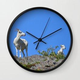 Ewe and Lamb Wall Clock