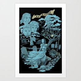 Hispanic Legend La Llorona (blue)  Art Print