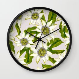 Passion Flower. Wall Clock