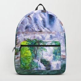 Digital Painting - Kuang Si Falls Backpack