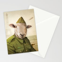 Private Leonard Lamb visits Paris Stationery Cards