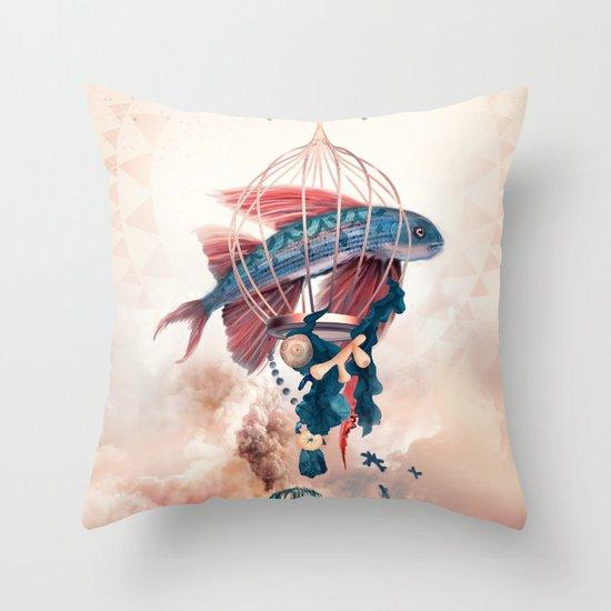 FlyFish Throw Pillow