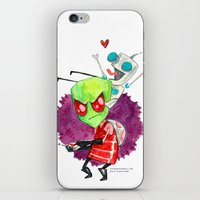 invader zim iPhone & iPod Skins featuring Invader Zim Hug by Super Group Hugs