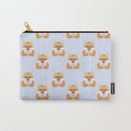 Low poly fox pattern Carry-All Pouch