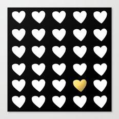 Golden Heart Canvas Print