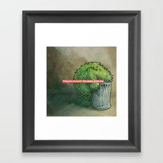 Trashcan : Bubblegum Framed Art Print