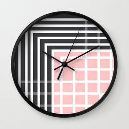Square - Pink and Grey Wall Clock